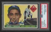 Sandy Koufax Signed 1955 Topps #123 (PSA Encapsulated) at PristineAuction.com