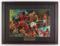 "LeRoy Neiman ""Ali & Foreman in Zaire"" 18x23.5 Custom Framed Print Display at PristineAuction.com"