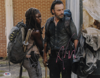 """Andrew Lincoln & Danai Gurira Signed """"The Walking Dead"""" 11x14 Photo (PSA Hologram) at PristineAuction.com"""
