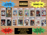 Icon Authentic 100x Series 50 Mystery Box (100+ Cards per Box) at PristineAuction.com