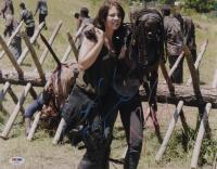 "Lauren Cohan & Danai Gurira Signed ""The Walking Dead"" 11x14 Photo (PSA Hologram) at PristineAuction.com"