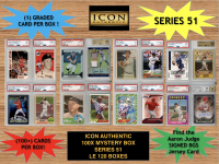 Icon Authentic 100x Series 51 Mystery Box (100+ Cards per Box) at PristineAuction.com
