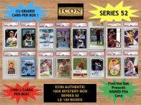 Icon Authentic 100x Series 52 Mystery Box (100+ Cards per Box) at PristineAuction.com