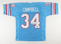 Earl Campbell Signed Jersey (Fiterman Hologram) at PristineAuction.com