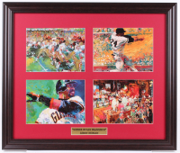 "LeRoy Neiman ""Scenes of San Francisco"" 19x22.5 Custom Framed Print Display with Joe Montana, Barry Bonds & Willie Mays at PristineAuction.com"
