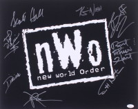 NWO 16x20 Photo Signed by (8) with Kevin Nash, Xpac, Scott Hall, Buff Bagwell, Scott Norton (JSA Hologram) at PristineAuction.com