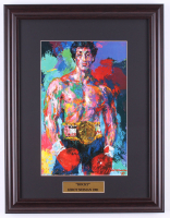 "LeRoy Neiman ""Rocky"" 15x19.5 Custom Framed Print Display at PristineAuction.com"