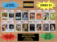 Icon Authentic 100x Series 53 Mystery Box (100+ Cards per Box) at PristineAuction.com