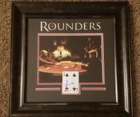 "Matt Damon Signed ""Rounders"" 18.5x18.5 Custom Framed Playing Card Display (Beckett Hologram) at PristineAuction.com"