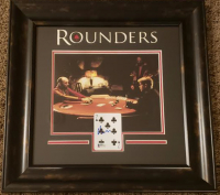 "Matt Damon Signed ""Rounders"" 18.5x18.5 Custom Framed Playing Card Display (Beckett Hologram) at PristineAuction.com"