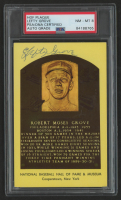 Lefty Grove Signed Gold Hall of Fame Plaque Postcard (PSA Encapsulated) at PristineAuction.com