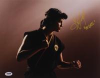 "Xolo Mariduena Signed ""Cobra Kai"" 11x14 Photo Inscribed ""Miguel"" (PSA Hologram) at PristineAuction.com"