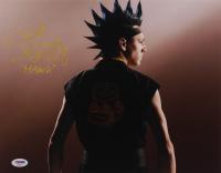 """Jacob Bertrand Signed """"Cobra Kai"""" 11x14 Photo Inscribed """"Hawk"""" (PSA Hologram) at PristineAuction.com"""