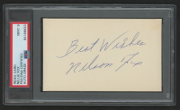 """Nellie Fox Signed 3x5 Index Card Inscribed """"Best Wishes"""" (PSA Encapsulated) at PristineAuction.com"""