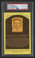 Jackie Robinson Signed Gold Hall of Fame Plaque Postcard (PSA Encapsulated) at PristineAuction.com