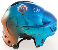 Connor McDavid Signed Oilers Full Size Chrome Helmet (Beckett COA) at PristineAuction.com