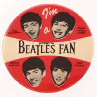 Vintage 1965 The Beatles Pin at PristineAuction.com