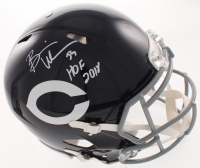 """Brian Urlacher Signed Bears Full-Size Authentic On-Field Speed Helmet Inscribed """"HOF 2018"""" (Beckett COA) at PristineAuction.com"""