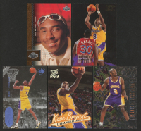 Lot of (5) Kobe Bryant Basketball Rookie Cards with 1996-97 UD3 #43 RC, 1996-97 Metal #181 RC, 1996-97 Fleer #203 RC, 1996-97 Upper Deck #58 RC, & 1996-97 Ultra #52 RC at PristineAuction.com