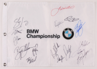 BMW Championship Golf Pin Flag Signed by (15) with Brooks Koepka, Dustin Johnson, Jordan Spieth, Gary Woodland, Rickie Fowler, Justin Thomas (JSA ALOA) at PristineAuction.com