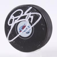 Joe Sakic Signed Avalanche Logo Hockey Puck (JSA COA) at PristineAuction.com