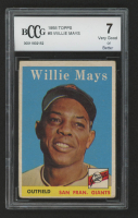 Willie Mays 1958 Topps #5 (BCCG 7) at PristineAuction.com