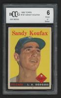 Sandy Koufax 1958 Topps #187 (BCCG 6) at PristineAuction.com