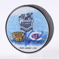 Alex Galchenyuk Signed 2016 Winter Classic Logo Hockey Puck (Beckett COA) at PristineAuction.com