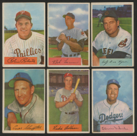Lot of (6) 1954 Bowman Baseball Cards with #95 Robin Roberts, #15 Richie Ashburn, #170 Duke Snider, #196 Bob Lemon at PristineAuction.com
