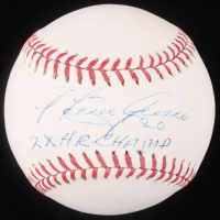 "Tony Armas Signed OML Baseball Inscribed ""2x HR Champ"" (JSA Hologram) at PristineAuction.com"