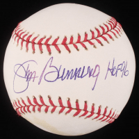 "Jim Bunning Signed OML Baseball Inscribed ""HOF 96"" (JSA Hologram) at PristineAuction.com"