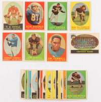 Lot of (25) 1958 Topps Football Cards with #103 Jim Ringo, #52 Lou Groza, #84 Charley Conerly, #86 Y.A.Tittle, #29 Chicago Bears, #58 Ron Kramer RC at PristineAuction.com