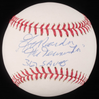 "Jeff Reardon Signed OML Baseball Inscribed ""The Terminator"" & ""367 Saves"" (JSA Hologram) at PristineAuction.com"