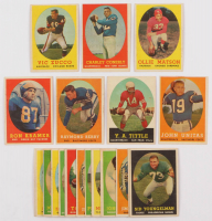 Lot of (20) 1958 Topps Football Cards with #120 Raymond Berry, #84 Charley Conerly, #86 Y.A.Tittle, #127 Ollie Matson, #22 Johnny Unitas at PristineAuction.com