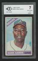 Hank Aaron 1966 Topps #500 (BCCG 7) at PristineAuction.com