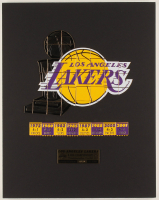 Los Angeles Lakers 11x14 Custom Matted Individual Commemorative Pin Set Display at PristineAuction.com