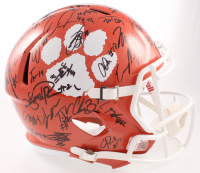 2018-19 Clemson Tigers Full-Size Speed Helmet Team-Signed by (55) with (Beckett LOA) at PristineAuction.com