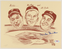 Duke Snider Signed Dodgers 9x11.5 Bill Gallo LE Lithograph (PSA COA) at PristineAuction.com