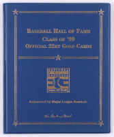 """Baseball Hall of Fame: Class of '99"" Danbury Mint 22kt Gold Card Display with George Brett, Orlando Cepeda, Nolan Ryan & Robin Yount at PristineAuction.com"