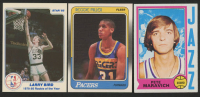 Lot of (3) Basketball Cards with 1985 Star Last 11 ROY's #6 Larry Bird, 1974-75 Topps #10 Pete Maravich, & 1988-89 Fleer #57 Reggie Miller RC at PristineAuction.com