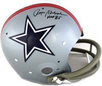 "Roger Staubach Signed Cowboys Full-Size Throwback Suspension Helmet Inscribed ""HOF 85"" (JSA COA) at PristineAuction.com"