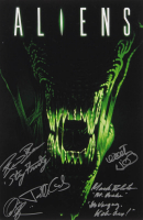 """""""Aliens"""" 12x18 Photo Signed by (5) with Alec Gillis, Jenette Goldstein, Mark Rolston, Rico Rossy & Walter Hill with Inscriptions (AutographCOA Hologram) at PristineAuction.com"""