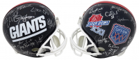 Giants Super Bowl XXI & XXV Champions Full-Size Helmet Team-Signed by (28) with Phil Simms, Lawrence Taylor, Jeff Hostetler, Ottis Anderson, Mark Bavaro (Schwartz COA) at PristineAuction.com