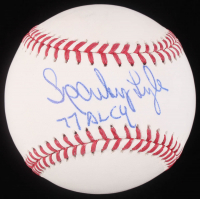 "Sparky Lyle Signed OML Baseball Inscribed ""77 AL CY"" (TriStar Holograms) at PristineAuction.com"