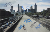 """""""The Walking Dead"""" 12x18 Photo Signed by (8) with Andrew Lincoln, Greg Nicotero, Josh McDermitt, Melissa McBride (AutographCOA Hologram) at PristineAuction.com"""