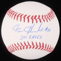 "Tom Henke Signed OML Baseball Inscribed ""311 Saves"" (JSA Hologram) at PristineAuction.com"