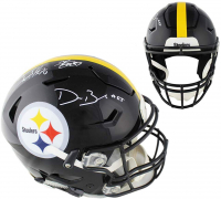 Devin Bush, Minkah Fitzpatrick & TJ Watt Signed Steelers Full-Size Authentic On-Field SpeedFlex Helmet (Radtke COA) at PristineAuction.com