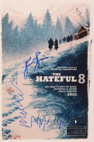 """The Hateful 8"" 12x18 Photo Signed by (4) with Jennifer Jason Leigh, Kurt Russell, Michael Madsen & Quentin Tarantino (AutographCOA Hologram) at PristineAuction.com"