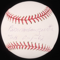 "Bill Monbouquette Signed OML Baseball Inscribed ""N.H. 8-1-62"" (TriStar Hologram) at PristineAuction.com"