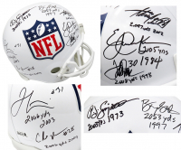 2,000 Yard Rushing Club NFL Logo Full-Size Helmet Signed by (7) with Eric Dickerson, Adrian Peterson, Jamal Lewis, Barry Sanders, Terrell Davis, Chris Johnson & O.J. Simpson with Multiple Inscriptions (Schwartz COA & Radtke Hologram) at PristineAuction.com
